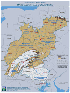 Marcellus Shale geological map via the Energy and Environmental Research for Northeastern Pennsylvania.