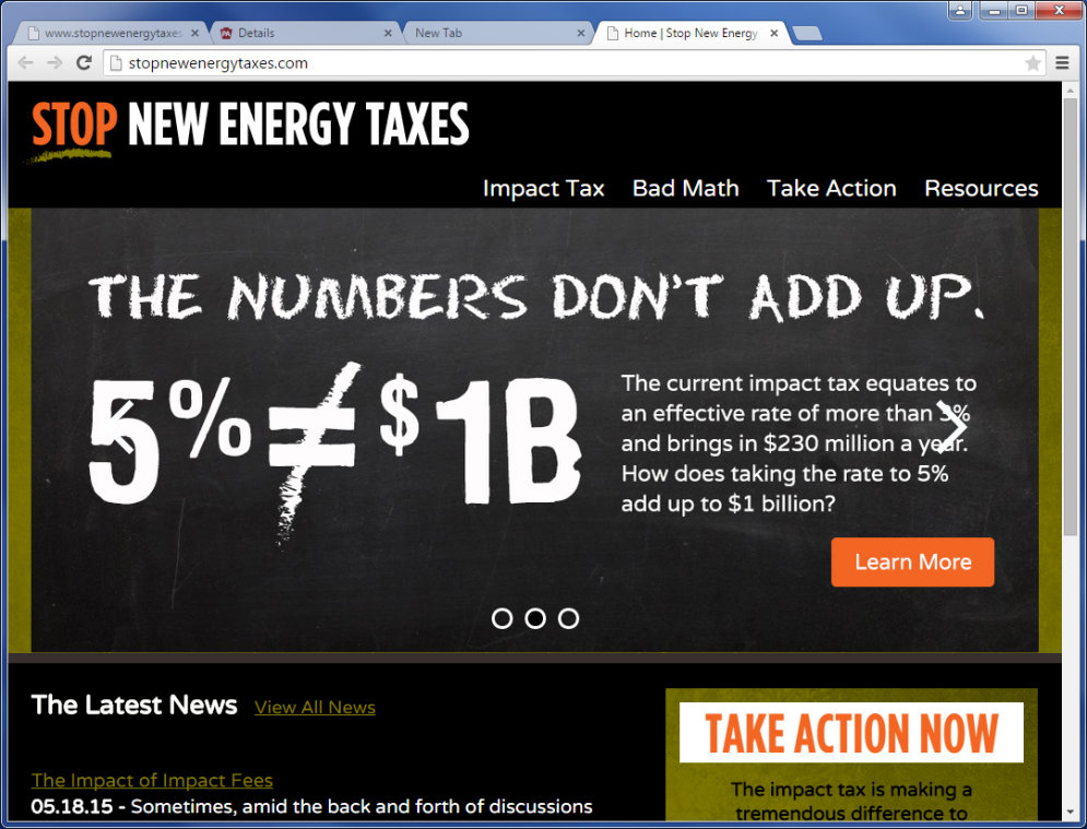 Stop New Energy Taxes