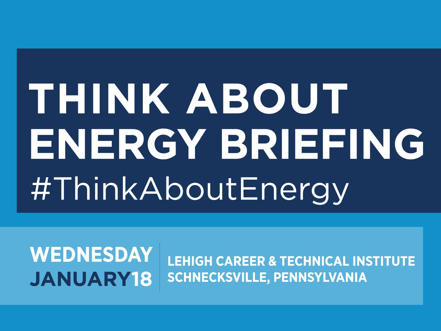 Think About Energy Lehigh