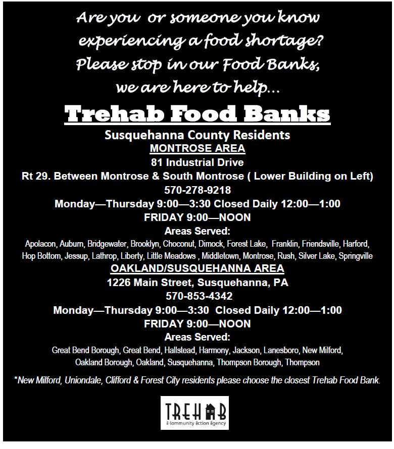 Trehab Food Bank