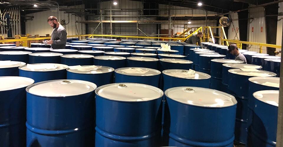 Sanitizer production at ethanol facilities